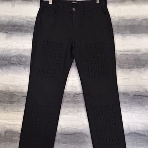 J Brand Cut Out Black Straight Leg Jeans 26